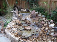 50 Cozy Diy Outdoor Waterfall Ideas For Beautiful Decoration - Outdoor waterfalls are artificial decorative pieces that have a system of continual flowing water as in a real waterfall. They can have many patterns,. Small Water Features, Outdoor Water Features, Water Features In The Garden, Garden Features, Modern Landscaping, Pool Landscaping, Outdoor Waterfalls, Pond Waterfall, Waterfall Photo