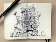 MOLESKINE DOODLES: Bedtime Stories by kerbyrosanes.deviantart.com on @deviantART