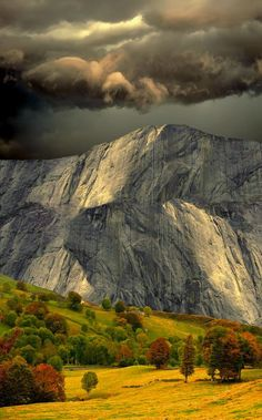 clouds over mountain