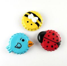 Bumble bee blue bird and ladybug handmade by lillybugboutique