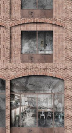White Arkitekter Wins Competition with Brick Housing Development in Stockholm Royal Seaport,Facade Detail. Image Courtesy of White Arkitekter