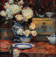 Bittersweet and Blooms, Oil by Daniel Gerhartz
