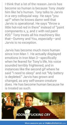Jarvis is the silent hero in Marvel. <-- I have to disagree. Like Tony, Jarvis is rarely silent. Funny Marvel Memes, Dc Memes, Marvel Jokes, Avengers Memes, Marvel Dc Comics, Marvel Avengers, Infinity War, Ironman, Downey Junior