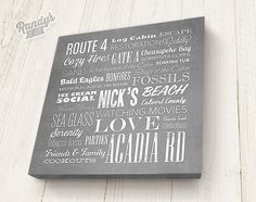Custom Canvas Art - Personalized House Warming Gift - Word Art