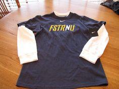 Boy's Nike long sleeve shirt FSTRNU faster then you L large youth kids NEW