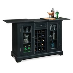 Home Styles 5531-99 Bedford Cabinet Home Bar, Ebony