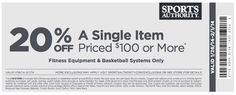 January and February 2014 Sports Authority Printable Coupon