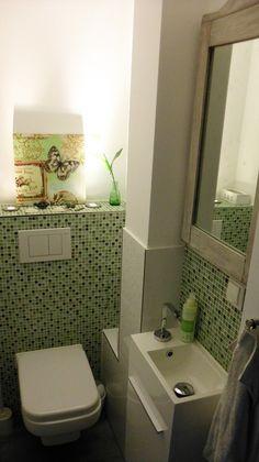 fliesen als dekoration im bad schieferoptik im g ste wc. Black Bedroom Furniture Sets. Home Design Ideas