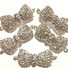 Charm Five Holes Four Rhinestones Connector Spacer Jewelry Accessories Bracelet