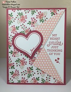 Pals Paper Crafting Card Ideas Suite Sayings Mary Fish Stampin Pretty StampinUp. Uses the Collar Fold. Fun Fold Cards, Love Cards, Folded Cards, Stamping Up Cards, Pretty Cards, Valentine Day Cards, Creative Cards, Anniversary Cards, Greeting Cards Handmade