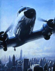 Douglas DC-3 over Manhattan by Lucio Perinotto ( kitchener.lord, via Flickr )