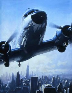 Douglas DC-3 over Manhattan by Lucio Perinotto ( kitchener.lord, via Flickr )