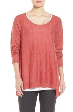 Free shipping and returns on Eileen Fisher Scoop Neck Sweater (Regular & Petite) at Nordstrom.com. A loose-fitting sweater with a pretty scooped neckline is fashioned from a cozy yet lightweight knit spun from amerino-and-alpaca-wool blend. A notched step hem heightens the breezy appeal.