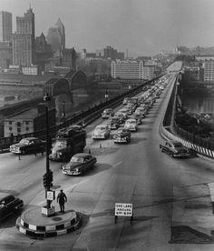 Liberty Bridge, Pittsburgh, Pennsylvania - 1951