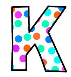 ArtbyJean - Paper Crafts: Alphabet Set - Polka Dots in bright magenta, shocking pink, blue, turquoise, aqua, and orange. Monogram Alphabet, Alphabet And Numbers, Polka Dot Letters, Polka Dots, Abc Letra, Magenta, Pink Blue, Alphabet Pictures, Printable Stickers