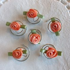 Perfect to match that #peach #dress. www.hairswirls1.com Hair Accessory in Beautiful Peach Roses for your by hairswirls1, $8.99