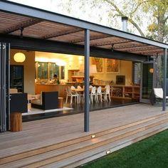 Stunning Pergola Plans Providing Comfort for Outdoor Space: Wonderful Wine Country Modern Porch Design With Creative Pergola Plans Made From. Veranda Design, Patio Design, Exterior Design, Wall Exterior, Door Design, Garden Design, Trellis Design, Terrace Design, Modern Porch