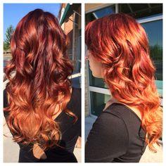 fire ombré #ombre #haircolor #red #hair #joicokpakcolor #joico