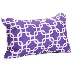 Majestic Home Goods 85907220665 Purple Links Small Pillow 12x20