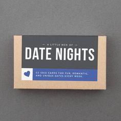 5fd3dc40bfaab Date Night Idea Cards 1 Year Anniversary Gifts, Paper Anniversary, First  Anniversary, Anniversary