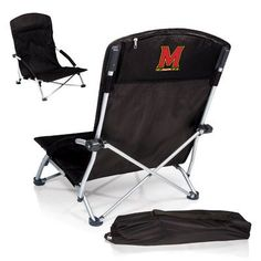 Picnic Time NCAA Tranquility Chair Color: Black, NCAA Team: Colorado State