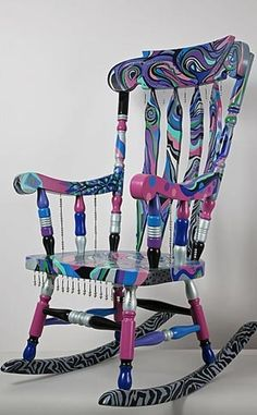 Funky Hand Painted Chair