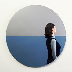 Fathom Mirror with reflections that look like the subject is underwater designed by Joe Doucet as a tribute to victims of Hurricane Sandy. Circular Mirror, Cool Mirrors, Mirror Mirror, Translucent Glass, Glass Furniture, Furniture Design, Photocollage, Pinterest Photos, Installation Art