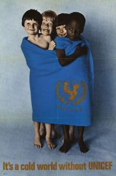 A UNICEF poster circa 1970. Lots of amazing people...