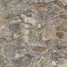 Red and Grey Faux Stone Wall