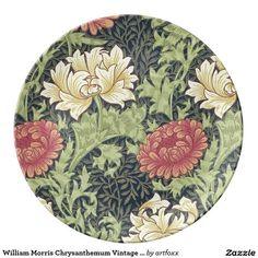 William Morris Chrysanthemum Vintage Floral Art