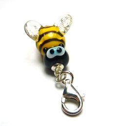 Charms - BIENE Lampwork Charm Anhänger *Pastell-Beads* - ein Designerstück von…