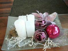 Roze adventskrans