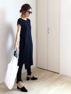 68 How to Wear a Dress Over Trousers 68 How to Wear a Dress Over Trousers 60 Fashion, Minimal Fashion, Modest Fashion, Timeless Fashion, Fashion Design, Fashion Trends, Dress Over Pants, Classy Work Outfits, Street Style Edgy