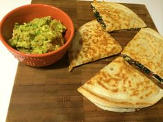 Quinoa and Kale Quesadilla with Guacamole