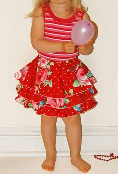 NEW PATTERN, Emma Twirl Skirt Shorts Pattern,12m-12y, PDF Sewing Patterns for Girls, Toddler, Children, Clothing Patterns