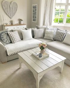 Pretty Living Room Corner Sofa Design Ideas konikcast The Effective Pictures We Offer You About Corner Sofa Living Room, Living Room Sofa Design, Living Room Decor Cozy, Cottage Living Rooms, Room Corner, Chic Living Room, New Living Room, Living Room Interior, Living Room Designs