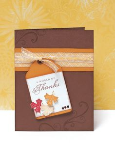 """A World of Thanks"" card idea from #CTMH."