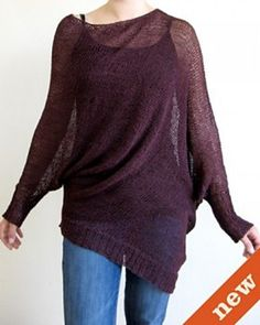 CocoKnits Belle Slouchy Knit Pullover Knitting Pattern