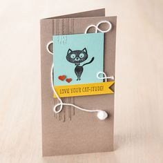 You Little Furball Wood-Mount Stamp Set by Stampin' Up!