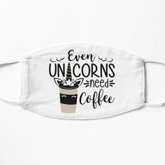 Coffee Mask, Need Coffee, Unicorns, Chiffon Tops, Masks, Printed, Awesome, Products, Art