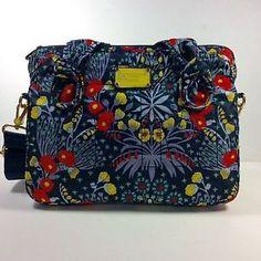 Marc by Marc Jacobs Womens Briefcase Messenger Bag Black Iris | eBay