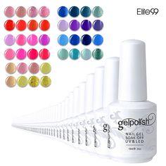 Elite99 Opciones Belleza de Color 3D Del Clavo Empapa de Pulimento Del Gel Del Nuevo Diseño de Color De 241 UV Gel Polaco Colección 15 ml