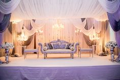 Walima Stage - without chandeliers/ Gold intead of gray Indian Wedding Receptions, Wedding Mandap, Desi Wedding, Wedding Chairs, Pakistani Wedding Stage, Wedding Ideas, Luxury Wedding, Wedding Ceremony, Wedding Planning
