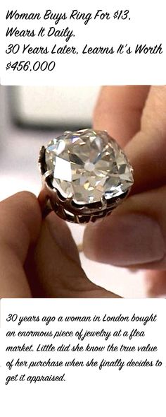 jewelry Woman Buys Ring For Cheap, Wears It Daily. 30 Years Later, Learns Its Worth a Fortune You never know !