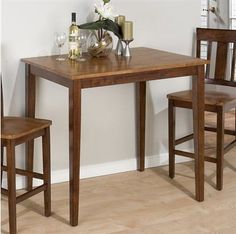 Square bar tables for small kitchen