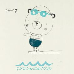Alex Willmore - diving bear