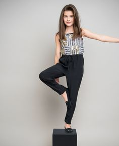 Girl's Block Sequin Jumpsuit - Bardot Junior