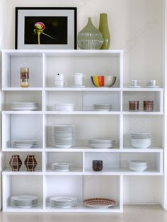 Beautiful White Corner Shelving Unit Idea with Impressive Design for Kitchen Storages and Display Shelves Idea