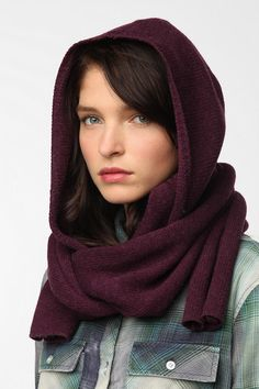Coal Woods Hooded Scarf. I kind of like this.  I should try it for next fall.winter.