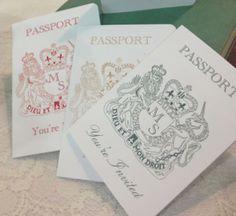 Passport Invitation - Folksy